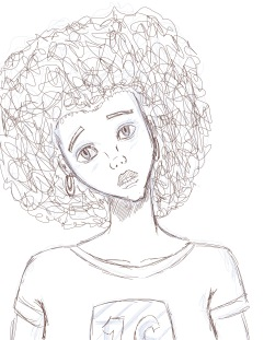 Black Girl - Quick Sketch_JPEG